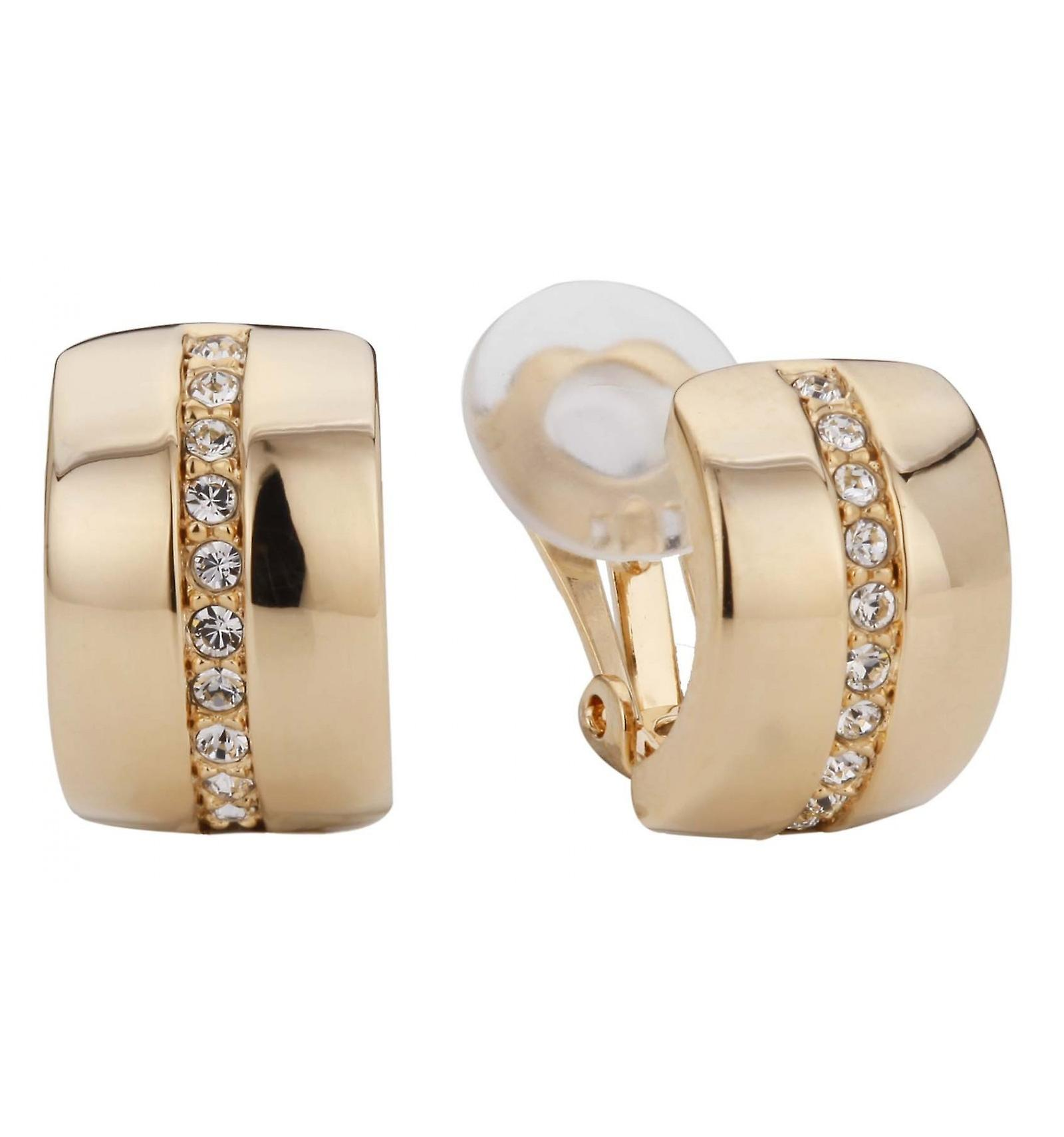 Traveller clip earring - 22ct gold plated - Swarovski Crystals - 156591