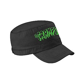The Cramps Army Cap Green Band Logo American punk new Official Black