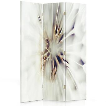 Raumteiler, 3 Paneele, Doppelseitig, 360 ° drehbar, Leinwand, Weiße Blumen 2