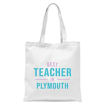 Best Teacher In Plymouth Tote Bag - White