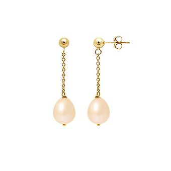 Earrings Pendante Rose Culture Pearls and Yellow Gold 750/1000
