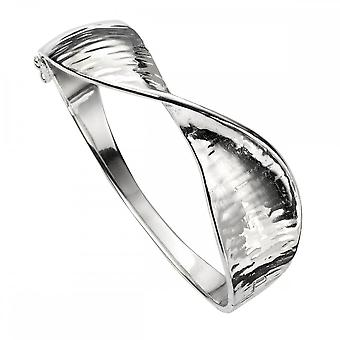 Beginnings Sterling Silver Twisted Hinged Statement Bangle B5184
