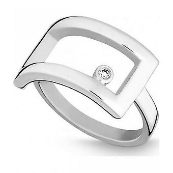 QUINN - Ring - Silber - Diamant - Wess. (H) - Weite 56 - 211116