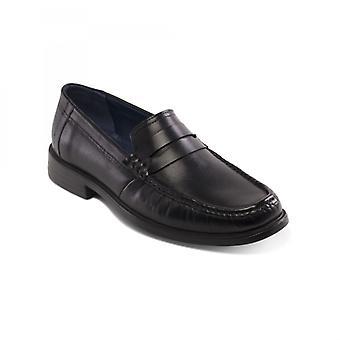 Padders Baron Herren Leder breit (g Fit) Loafer Schuhe schwarz
