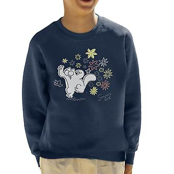 Simon's Cat Butterfly Floral Kid's Sweatshirt