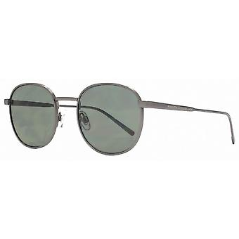 French Connection Chunky Metal Round Sunglasses - Matte Grey
