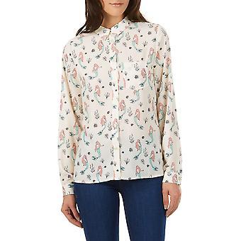 Sugarhill Boutique Women's Cream Mermaid Print Dawn Shirt