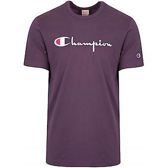 Champion Champion Reverse Weave Lilac Big Script T-Shirt