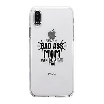 悪いお尻のお母さんはお父さんクリア電話ケースかわいいママ誕生日ギフトのアイデアです
