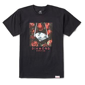Diamond Supply Co Rose Diamond Tee Noir