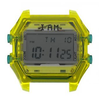 Watch I Am The Watch IAM-109 - Translucent Yellow Box Buttons Green / Horn 20 mm Set