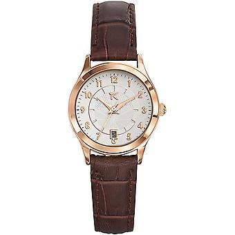 Trendy Kiss TG10057-03 - horloge zilver leder vrouw