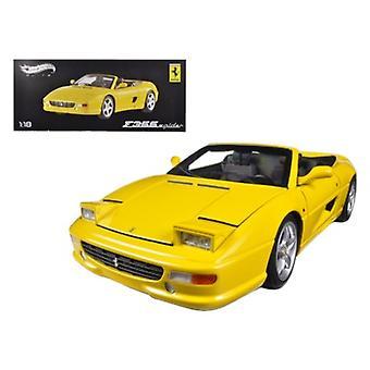 Ferrari F355 Spider Convertible Yellow Elite Edition 1/18 Diecast Car Model par Hotwheels