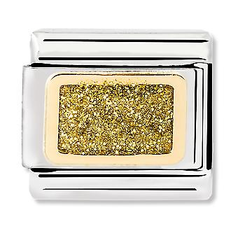 Nomination Classic Link Gold Glitter Square Link Charm 030280/37