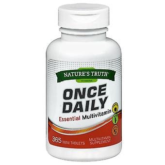 Nature's truth once daily essential multivitamin, mini tablets, 365 ea