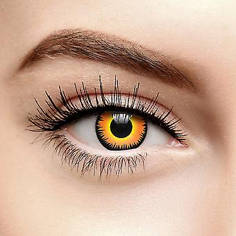 Orange Werewolf Fire Colored Contact Lenses (Daily)