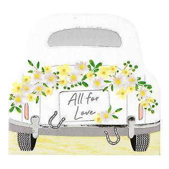Boho Car Shaped Wedding Floral Paper Party Napkins x 16