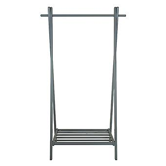 Charles Bentley Large Solid Wood Hanging Clothes Rail/Clothing Stand/Shoe Rack Grey 150x50x89cm