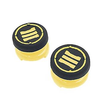 Thumbstick extender grips for sony ps4 controllers tall xl heavy duty non slip analog thumb cap mod - 2 pack yellow   zedlabz