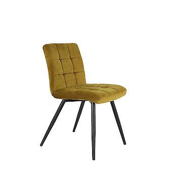 Light & Living Dining Chair 49x57x84cm Olive Velvet Ocher