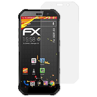 atFoliX Glass Protector compatible with AGM A9 Glass Protective Film 9H Hybrid-Glass