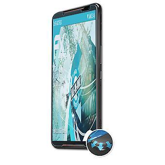 atFoliX 3x Schutzfolie kompatibel mit Asus ROG Phone II Folie klar&flexibel