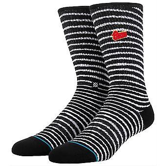 Stance Black Star Socks - Black/White