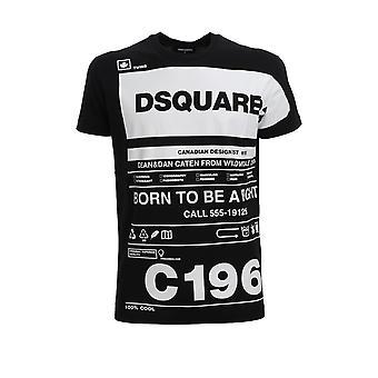 Dsquared2 S74gd0697s22427900 Men's Black Cotton T-shirt