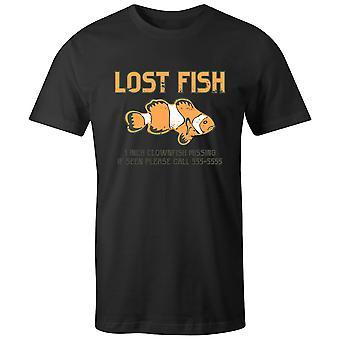 Boys Crew Neck Tee Lyhythihainen Miesten T-paita- Lost Fish