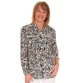 JUST WHITE Just White Animal Print Blouse 42143