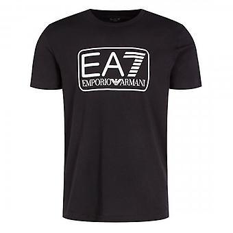 EA7 Emporio Armani Box Logo T-Shirt Black 8NPT10 PJNQZ