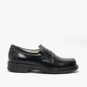 Amblers Manchester Mens Leather Loafers Black