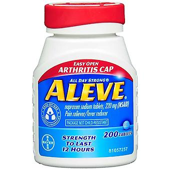 Aleve pain reliever fever reducer easy open cap, tablets, 200 ea