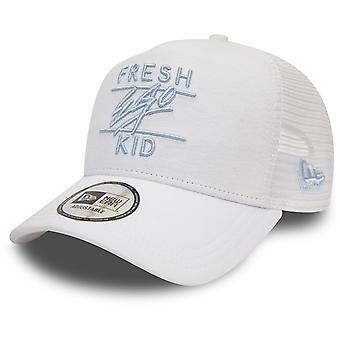Fresh Ego Kid Mesh Trucker Baseball Cap White 87