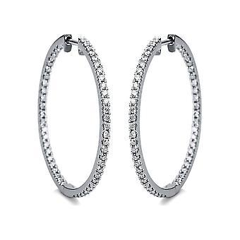 Brincos de diamante Brincos - 18K 750/- Ouro Branco - 0,9 ct. - 2G781W8-1