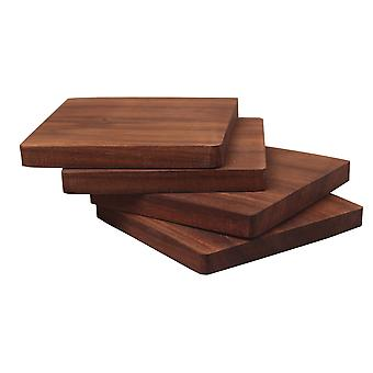 4 PCS Black Walnut Coaster