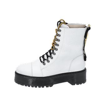 Bronx Rifka Super Chunky Women's Boots White Lace-Up Boots Winter