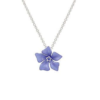 Eeuwige collectie maagdenpalm blauw emaille bloem zilveren Toon hanger