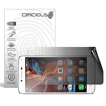 Celicious Privacy 2-Way Landscape Anti-Spy Filter Screen Protector Film Compatible with Lenovo Vibe K5 Plus