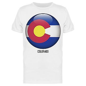 علم كولورادو في دائرة شكل تي الرجال & apos;s -الصورة من قبل Shutterstock
