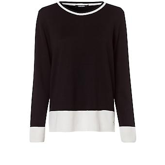 Olsen Black & White Knit Jumper