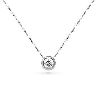 Collier Diamond Solitaire 0.30 Carat et 18K Or - Or Blanc