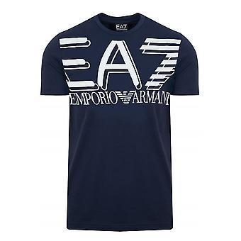 EA7 Emporio Armani Ea7 | Emporio Armani 3hpt09 Pj02z Large Logo Print Half Sleeve T-shirt