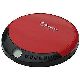 Roadstar Portable CD-speler CD, CD-R, CD-RW Tastbaar toetsenbord Rood