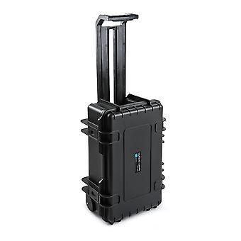 B&W Outdoor Case Typ 6600 2 Rollen, Leer, Schwarz