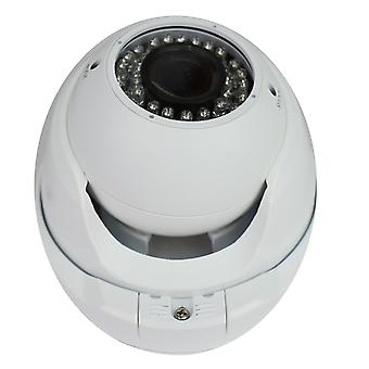 Jandei Minidome 4 in 1 720P Varifocal Exterior 2.8-12mm Infrared 30 Meters White Aluminum