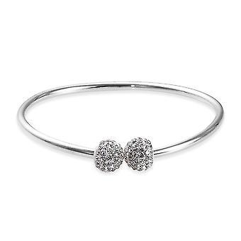 Charmes De Memoire Bangle pour femmes Sterling Silver Platinum Plaqué Taille 7.5