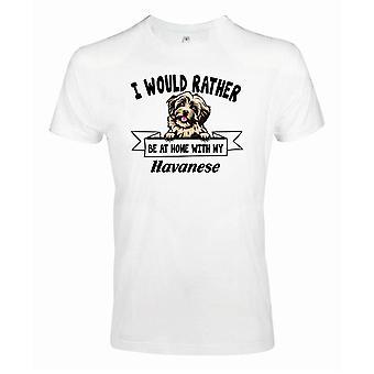 Havanese Kikande hund t-shirt - Rather be with...