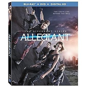 As séries divergentes: Allegiant [Blu-ray] EUA importar