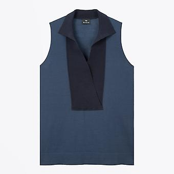 PS Paul Smith  - Sleeveless Knitted Top - Blue